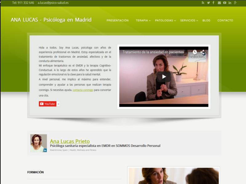Ana Lucas. Psicologa Madrid